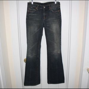 7 FOR ALL MANKIND Flare Jeans Women Dark Wash NWOT